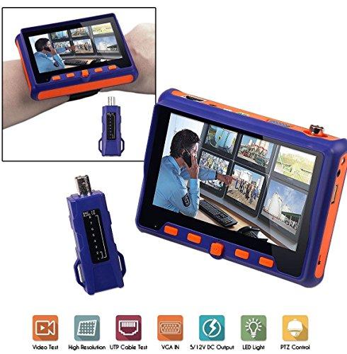"Topolenashop Tester Kameras Videoüberwachung AHD HD CCTV UTP VGA TVI CVI CVBS Monitor 5"""