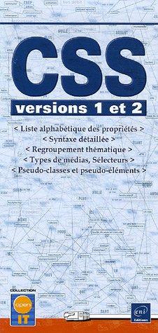 CSS : Versions 1 et 2