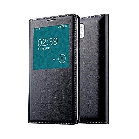 Souvent fenêtre à rabat Étui/Housse/Cover/Case pour Samsung Galaxy Note 3N9000/N9002/N9005/N9006/N9008 noir