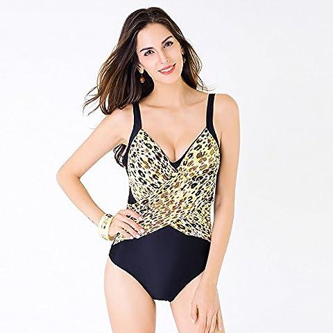 BJN-Europa sexy Leopard a colori PAL costume da bagno di un pezzo sottile set bikini , blu leopard con blu violaceo , l