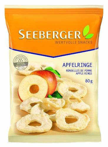 Seeberger Apfelringe, 80 g