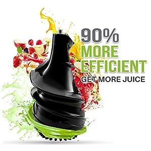 ⭐ Estrattore di Succo di Frutta e Verdura senza BPA, Twinzee - 2 Filtri (Sottile e Spesso) - Apertura ampia (75 mm), Certificato CE, Pulizia Facile con Spazzolino Incluso - 2021 -