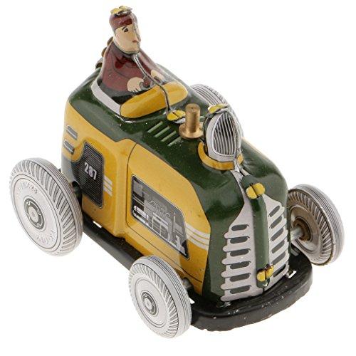 MagiDeal Vintage Verkehrsmittel Modell, Wind-up Uhrwerk Blechspielzeug, Sammlerstücke Geschenke für Kinder und Freunde - Traktor (Traktor Sammlerstücke)