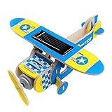 Homyl Holzbausatz Modellbausatz Doppeldecker Flugzeug Solarantrieb - # 3