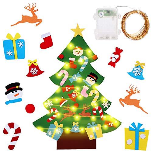 Gudotra Kit Árbol Navidad Fieltro Pared Puerta+25