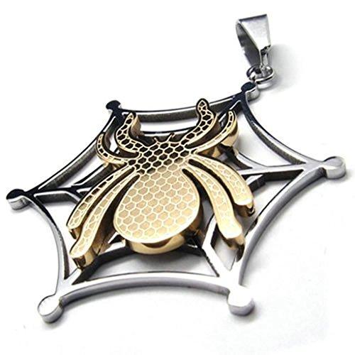 Daesar Acciaio Inossidabile Collana Uomo Ciondolo Collana Ragno Oro Argento 18-26 Pollice