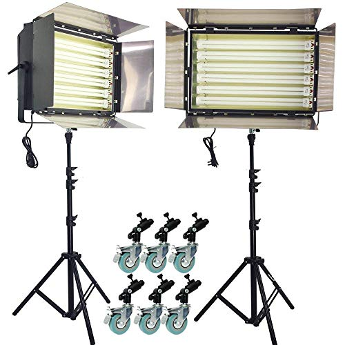 HWAMART ® (6 Banks 2 set) 3300W Pro Leuchtstofflampe 6 Bank Kontinuierliche Beleuchtung DayLight flackern frei mit osram Vorschaltgerät Komplett 2 Satz -