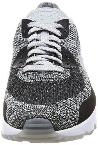 Nike Uomo Scarpe / Baskets Air Max 90 Ultra 2.0 Flyknit Schwarz (noir / Pure Platine / Gris Foncé / Gris Loup)