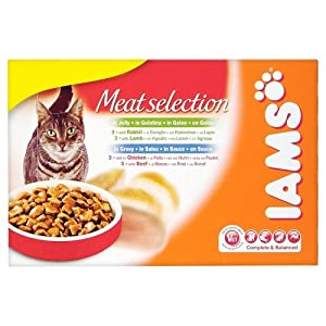 Iams Adult Meat Selection In Jelly And Gravy Wet Cat Food 12 X 100 G Pouches Pack Of 2 by Procter & Gamble