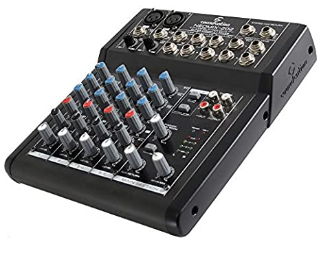 SOUNDSATION NEOMIX 202 - 4 Channel Mixer 8 entrées pour Home Studio, Live, Karaoke, Etc ..