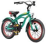 BIKESTAR Premium Sicherheits Kinderfahrrad 20 Zoll für Jungen ab 6 - 7 Jahre ★ 20er Kinderrad Cruiser ★ Fahrrad für Kinder Grün