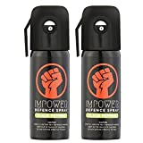 #9: IMPOWER Self Defence Black Pepper Spray for Women and Men - Sprays upto 12 feet and 45 Shots - Police Strength (Couple Pack of 2)