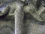 CRS Fur Fabrics Short Plush Care Bear in finta pelliccia tessuto DK grigio