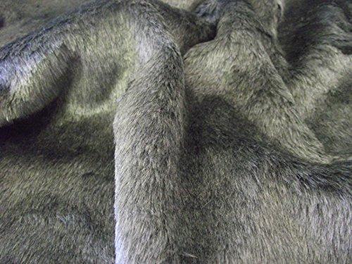 CRS Fur Fabrics Tela con Pelo sintético Corto sintética de Peluche Cuidado Oso DK Gris