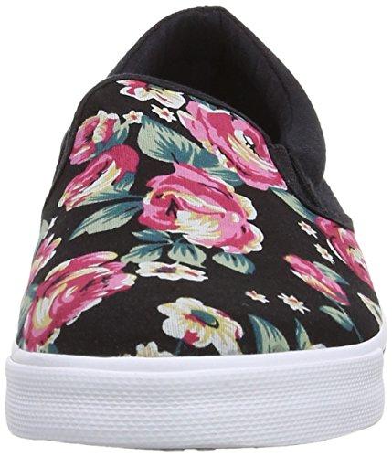 Babycham Della Rose, Chaussures bateau femme Noir (Black/Multi)