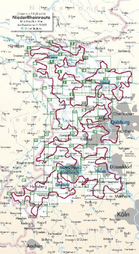 Bikeline NiederRheinroute. Zwischen Ruhrgebiet und holländischer Grenze: 1:75 000, wetterfest/reißfest, GPS-Tracks Download