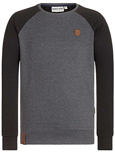 Naketano Male Sweatshirt The Jordan Rules anthracite melange black