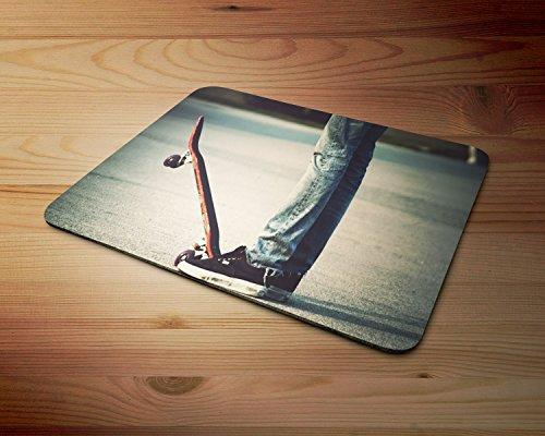 Skater Skateboard Weiche 5mm Gummi-PC-Mausunterlage - für Spiele zu Hause oder im Büro (Skateboard-spiele Für Pc)