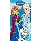Unbekannt Faro Strandhandtuch Disney Frozen Eiskönigin, Baumwolle, Mehrfarbig, 140 x 70 cm
