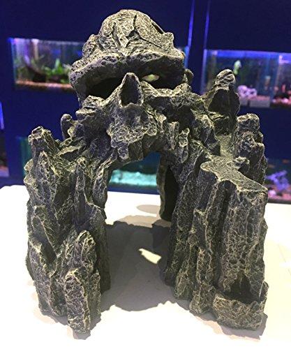 Mezzaluna Gifts Stollen Skull Island grau Rocky Cave ~ Spooky, Aquarium Fisch Tank ornament -