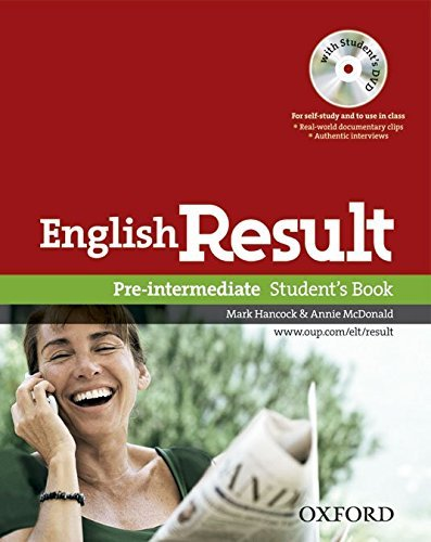 English Result Pre-intermediate: Student's Book with DVD Pack: General English Four-skills Course for Adults by Mark Hancock (2010-03-18)