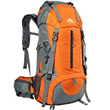 Loowoko Hiking Backpack, 50L Waterproof Travel Backpack Trekking Rucksack Mountaineering Backpack for Men