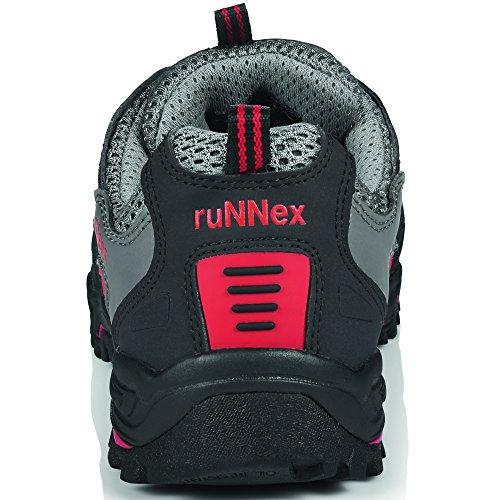 Sicherheitshalbschuh S 1 ruNNex, Größe: 45, Farbe: grau Schwarz
