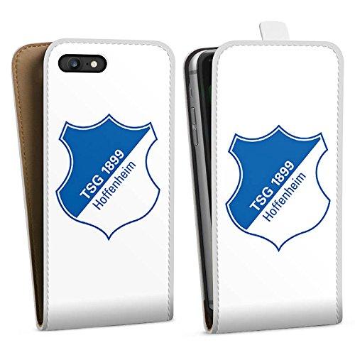 Apple iPhone X Silikon Hülle Case Schutzhülle TSG Hoffenheim Fanartikel Fußball Downflip Tasche weiß