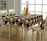 Cotone semplice moderno partito tavolo da pranzo tovaglie 140X180 cm 55x70 inch 1470-5