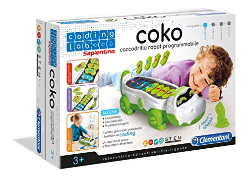 Clementoni - 12092 - Coding Lab - Coko, Coccodrillo Programmabile