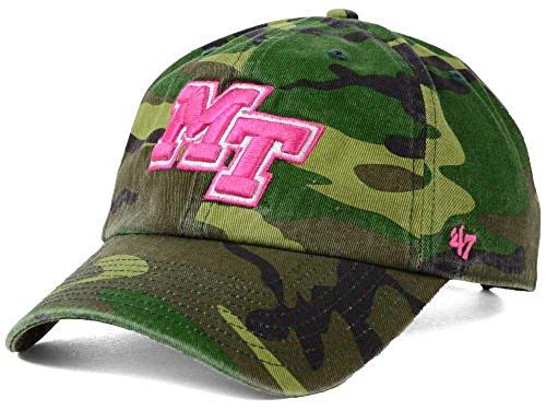 47 Brand NCAA Damen Fashion Camo Clean Up Cap Einheitsgröße. Camouflage College Teams, Damen, Middle Tennessee State Blue Raiders, One Size Fits Most Raiders Womens Hüte