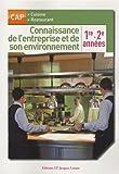 Image de Connaissance de l'entreprise et de son environnement : 1e 2e années CAP cuisine restaurant