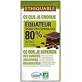 Ethiquable chocolat noir 80% cacao équateur bio 100g Envoi Rapide Et Soignée ( Prix Par Unité )