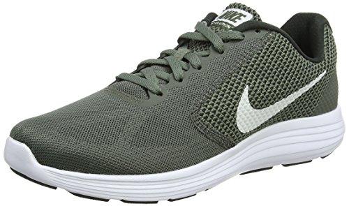 Nike Revolution 3, Scarpe Running Uomo, Verde (River Rock/Vintage Green/White 020), 44 EU