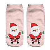 VRTUR Unisex Weihnachten Socks Lustig 3D Mode Gedruckt Lässig Socken Niedlich Niedrig Schnitt Knöchel Socken