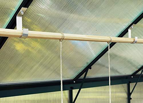MacGreen® Gewächshaus-Alu-Stabhalter (6 Stück) - 2