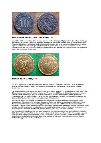 Kalenderblatt zum Jahr 1919: Deutsches Kriegsgeld 1919 (2 Peso von Mexiko 1919 und zur Geschichte des Landes) (Mexiko Peso)