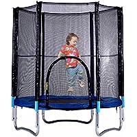 mymotto GartenTrampoline Kinder Trampolin mit Sicherheitsgepäck Netz Outdoor Fitness Trampoline Sprungmatte Durchmesser: 1,82m Höhe: 2.16m belastbar bis 150 kg