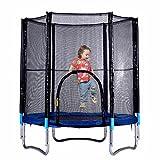 mymotto GartenTrampoline Kinder Trampolin mit Sicherheitsgepäck Netz Outdoor Fitness Trampoline