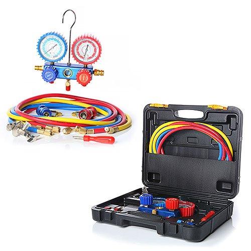 Melko Monteurhilfe 2-Wege Klimaanlage R134a R22 R12 R502 Gauge Set + Koffer Manometer -