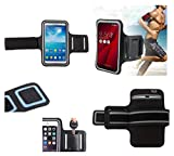 DFV mobile - Armband Professional Cover Neoprene Waterproof Wraparound Sport with Buckle for = Zopo ZP990 Captain S  Black