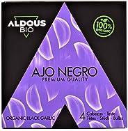 ALDOUS BIO - Auténtico Ajo Negro Ecológico Español - Producto Gourmet - 4 Cabezas Premium - Máxima frescura y