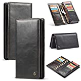KIOKIOIPO-N Mode Multifunktions-Horizontal-Schlag-Leder-Kasten, mit Karten-Slot & Zipper Wallet & Photo Frame, for iPhone, LG, Galaxy, Huawei, Oppo, Vivo und 4,0-6,5 Inch Andere Smart Phones