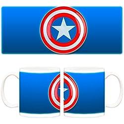 Taza Capitán América logo