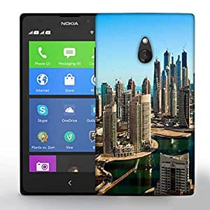 Snoogg Buildings In Dubai Printed Protective Phone Back Case Cover For Nokia Lumia XL