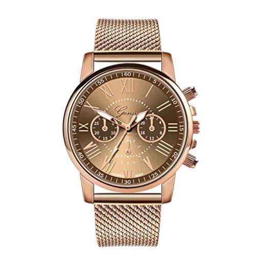 Makefortune ⌚ Uhren Damen Classic Sport Wasserdicht Quarz Analoguhr Mode Edelstahl Armbanduhren mit Chronograph Datum 8 Farben