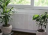 Heizkörperverkleidung , 62 x 20 cm Design: Leaves, weiß (Marke: Szagato) (Heizkörperabdeckung Abdeckung für Heizkörper Heizungsverkleidung)