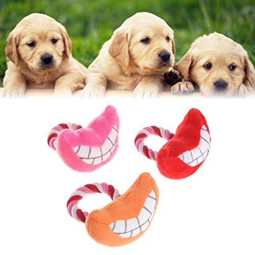 pielzeug Katze Hund Squeaker Welpen Plüsch Zufällige Mund Form Nette Lustige Sound Geschenke (Lustige Nette Welpen)