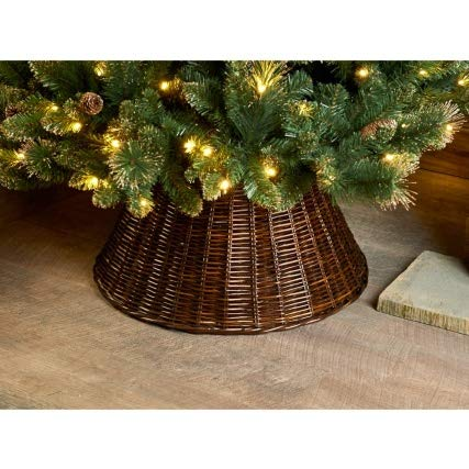 VENEXA-TRADER - Falda de Mimbre para árbol de Navidad (65 cm ...