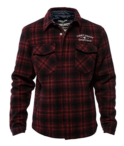 West Coast Choppers Jacke Quilted Gang Jacket, Größe:XL, Farbe:red/black